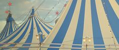 Pastel Carnival Striped Circus Tents Tops
