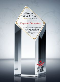 c735f929f2 Reward your top producer with this impressive sales award trophy. With its  distinct tower design. DIY Awards