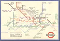 This London Underground map designed by Harry Beck in after he realised that where the lines go is pretty much irrelevant. 18 Beautiful And Weird Maps That Will Change How You Think About London London Underground Tube Map, London Tube Map, London Map, London City, London Pride, London Style, Harry Beck, Metro Paris, London Transport Museum