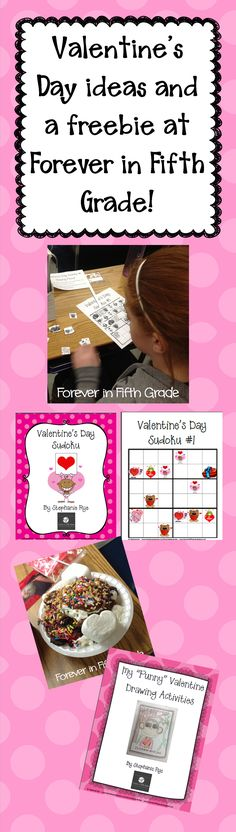 Find a Valentine's Day Freebie activity your students will love at Forever in Fifth Grade!