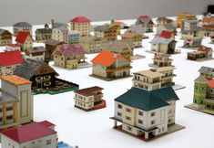 the 387 architectural models by peter fritz compose a near-encyclopedic inventory of all manner of provincial architectural styles, from farmhouses to bank buildings.