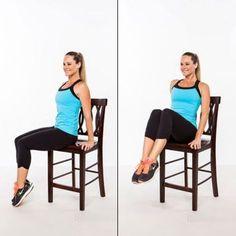 Voici 5 super exercices à faire sur une chaise pour enlever la graisse du ventre !
