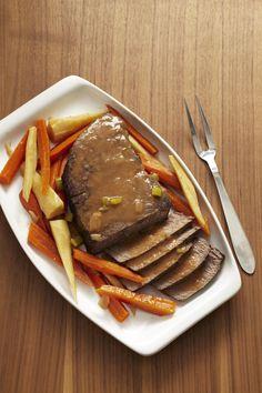 Slow Cooker Pot Roast with Root Vegetables #SundaySupper