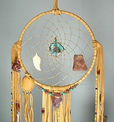 Dreamcatcher made by Apache artist Cynthia Whitehawk. Bear Turtle medicine entirely hand crafted and a true work of art.