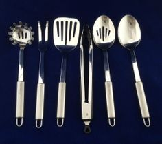 Cook's Essentials Kitchenware Stainless Steel 6 Piece cooking Utensil Set