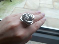 QVC's Sterling Silver Rose Dress Ring