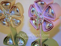 Qbee's Quest: Hershey's Kisses Flower Tutorial