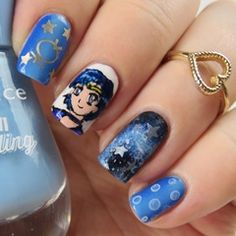 Sailor Mercury Nails
