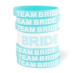 Bride and Team Bride Rubber Bracelets Set of 7