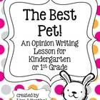 With this opinion writing lesson, students will write their opinions about the animal they think is the best pet. My Kindergarten students really e...