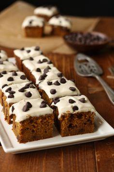 Pumpkin Chocolate Chip Snack Cake