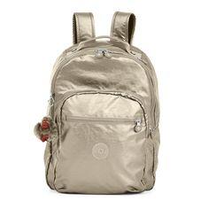 Seoul Metallic Laptop Backpack - Metallic Pewter | Kipling
