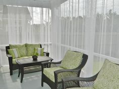 screened porch sheer curtains. Update On My \u0027DIY Screened Porch\u0027 Sheer Curtains\u201318 Months Later | Curtains, Porches And Magnolia Porch Curtains T