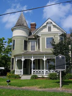 The Robert Washington Sanders House, 479 Pine St., Beaumont, Texas. Contractor James Wellman built the two-story, Queen Anne style house for the Sanders family in 1895 according to their specifications, but Sanders (a noted cabinet maker) did the finishing work himself.
