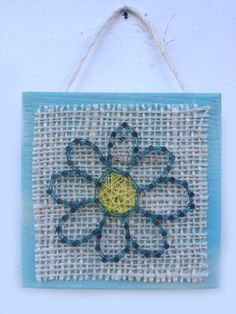 Daisy String Art Home or Office Decor by Edgeofthewoodsart on Etsy
