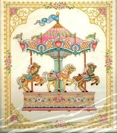 Dimensions Gold Her Majesty's Carousel Counted Cross Stitch Kit 3769 USA 1994 for sale online Cross Stitch Horse, Just Cross Stitch, Cross Stitch Needles, Cross Stitch Baby, Cross Stitch Samplers, Counted Cross Stitch Kits, Cross Stitching, Cross Stitch Embroidery, Cross Stitch Designs