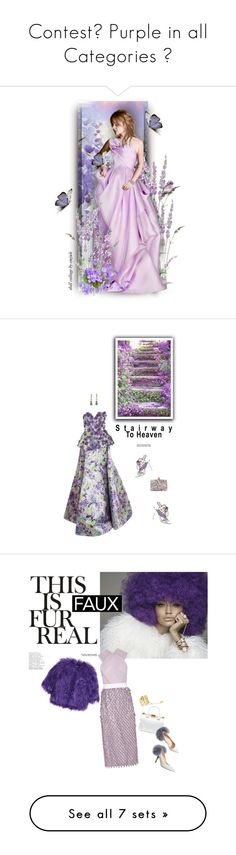 """""""Contest Purple in all Categories """" by ragnh-mjos ❤ liked on Polyvore featuring contest, purple, art, Andrew Gn, Sophia Webster, Kelly Wearstler, gown, polyvoreeditorial, colorchallenge and Balenciaga"""