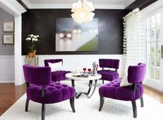 Modern Home Decorating Ideas Blending Purple Color into Creative Lifestyle