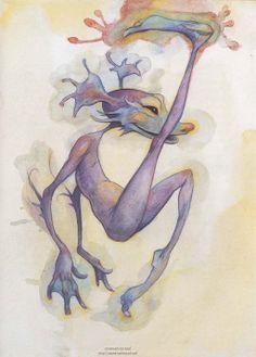 Brian Froud//Lady Cottington's Pressed Fairy Book Magical Creatures, Fantasy Creatures, Illustrations, Illustration Art, Brian Froud, Fairy Drawings, Kobold, Elves And Fairies, Arte Horror