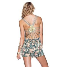 platinum-finds ~ Products ~ Maaji Crossed Crochet Romper L ~ Shopify