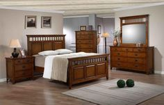 Trudy Bedroom Set (Dark Oak Finish). The Trudy Bedroom Set (Dark Oak Finish) has the following features: Manufactured by Elements International Part of the Trudy Collection Made of wood in a dark and oak finish One of our traditional and mission-styled panel bedroom sets that will work