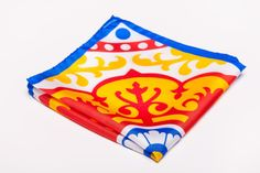 Items similar to A Gorgeous and Glamorous Orange, Blue and Yellow Pocket Square -- New Collection on Etsy