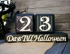 Halloween Countdown Block Calendar. $26.00, via Etsy.
