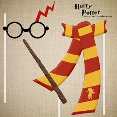 Harry Potter Inspired Photo Booth Props by TwoPeasCreative on Etsy, $6.00