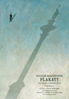 Wieslaw Grzegorczyk, Warsaw exhibition poster, 2014