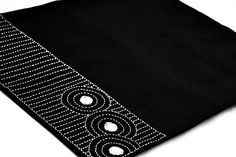 Ryoan ji Zen garden- Placemats in Linen Blend with Sashiko Hand Embroidery in white-set of 4. $39.00, via Etsy.