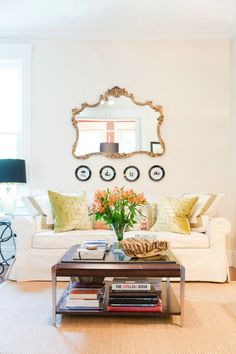 Home Tour on lauratrevey.com - light and bright Family Room