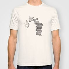 Buy Book Tower by Jessie Vittoria as a high quality T-shirt. Worldwide shipping available at Society6.com. Just one of millions of products available.