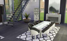 Sims 4 House Building, Sims House Plans, Sims 1, Casas The Sims Freeplay, Sims 4 House Design, Casas The Sims 4, Cafe House, Mansion Interior, Sims 4 Build