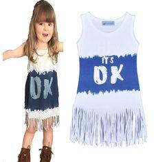 Find More Dresses Information about INS Girls dress summer Tassel Heart  shaped Monster girl dress Sleeveless. Girls Party DressBaby ... d2d43e8b7503