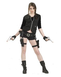 Treasure Huntress Holster With Guns
