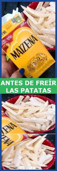 Sugerencia de hoy Antes de freír las patatas, poner un poco de maizena antes de freír en aceite bien caliente #patatasdefreir #patatas #papas #maizena #freir #papasfreir #maisena #receta #recipe #panes #panecillos #pancitos #pan #casero #maicena #tartas #pastel #nestlecocina #bizcocho #bizcochuelo #tasty #cocina #cheesecake #helados #gelatina #gelato #flan #budin #pudin #flanes #cakes #panfrances #panettone #pantone #panetone #navidad #chocolate Si te gusta dinos HOLA y dale a Me Gusta MI... Mexican Food Recipes, Vegetarian Recipes, Snack Recipes, Cooking Recipes, Snacks, Side Recipes, Great Recipes, Favorite Recipes, I Love Food