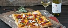Butternut Squash Tart with Fried Sage, Prosciutto and Pecorino Cheese