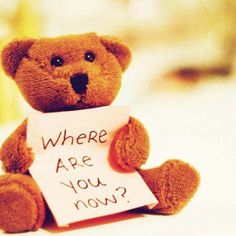 Love Quote - sad teddy bear