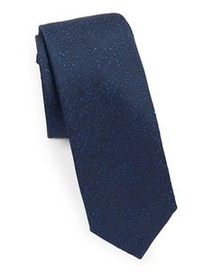 Silk tie with woven texture HUGO BOSS 3lJRf