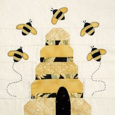 The Quilting Bee – Cleo Lampos Quilt Block Patterns, Pattern Blocks, Quilt Blocks, Pattern Ideas, Quilting Projects, Quilting Designs, Quilting Ideas, Sewing Projects, Bee Skep
