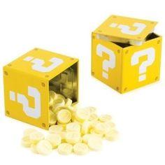 Festa Super Mario - Ideia de lembrancinha - Caixinha de doces