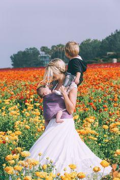 Barefoot Blonde Amber in flower fields
