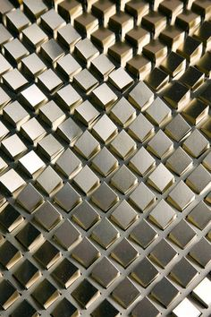 Innovative Surface Design by Giles Miller Studio / Rosaic // Etched Brass, Copper or Stainless Steel.