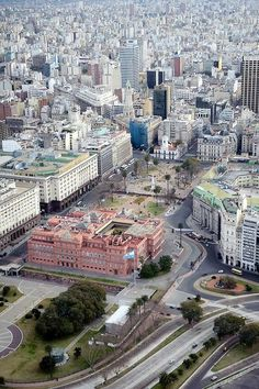 Buenos Aires, Argentina- Aerial view of La Casa Rosada, officially known as the Casa de Gobierno or Palacio Presidencial, is the official seat of the executive branch of the Government of Argentina. Argentina South America, Visit Argentina, Argentina Travel, South America Travel, Argentine Buenos Aires, Wonderful Places, Beautiful Places, Ushuaia, Central America