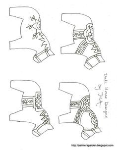 dala horse carving pattern - Google Search