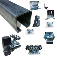 Cantilever Slide gate trolley rolling gate Post Mount & Truck Assembly
