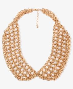 Pearlescent Link Collar Necklace | FOREVER21 - 1019572724
