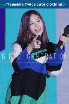 Teamlala 可愛い 韓国女子グループ TWICE ツウィ 同スタイル Vネックニットワンピース 演出衣装 フリーサイズ