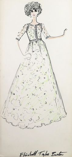 Lagerfeld draws for Taylor: auction of sketches of '63 - Shows - Repubblica.it