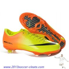 82dc54efa1cd 2013 New Nike Mercurial 9 FG - Nike Mercurial Vapor IX Firm Ground Boots in  Orange Yellow Black Football Shoes On Sale